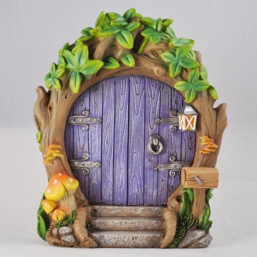 Purple Forest Fairy Door Large Magical Garden Decor Elves Pixies Fairies