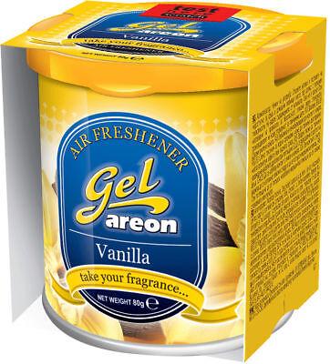 3x Originale Areon Gel Can Auto Albero Profumato Deodoranti + Coperchio Vaniglia Alta Qualità E Basso Sovraccarico
