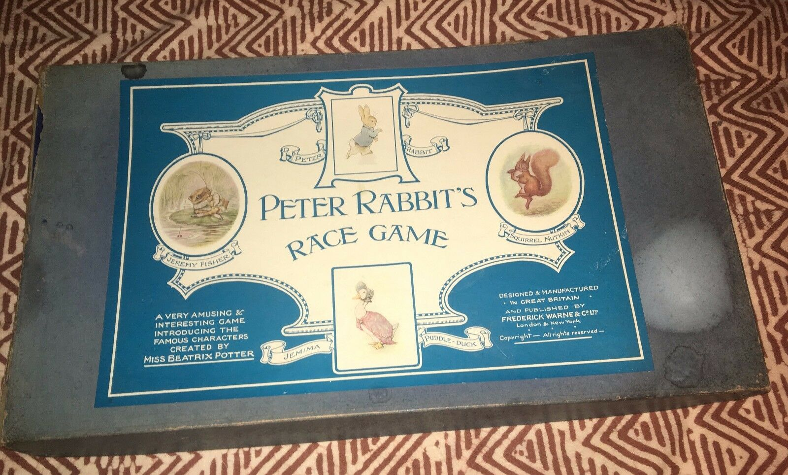 Vintage Peter Rabbit's Race Game - Lead figurines ca. 1930-1945