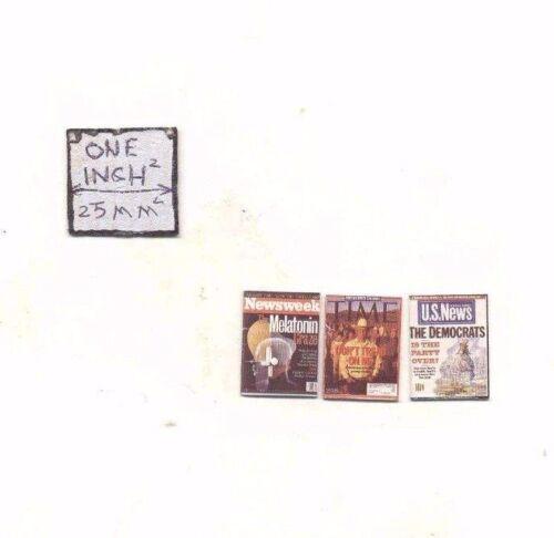 "Magazine /""News Magazine/"" dollhouse miniature 1//12 scale COT5023  USA"