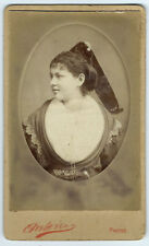 Photo cdv portrait de Louise St Martin - arlésienne - Ruban Arles 1885  Provence