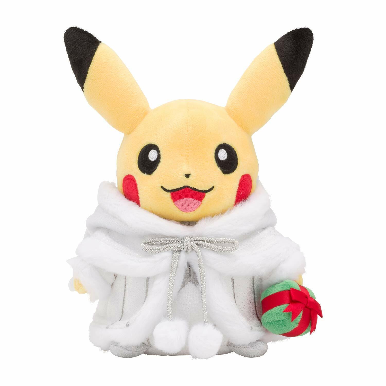 Pokemon Centro Originale Peluche Pikachu Babbo Natale Bambola Giocattolo Frosty