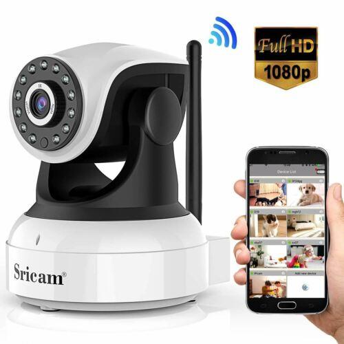 Moni Caméra de Surveillance Intérieure 1080P HD Sans fil Sricam Caméra IP Wifi