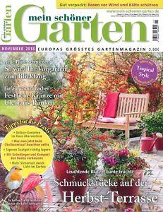Details zu mein schöner Garten, Heft November 11/2018: Herbst-Terrasse +++  wie neu +++