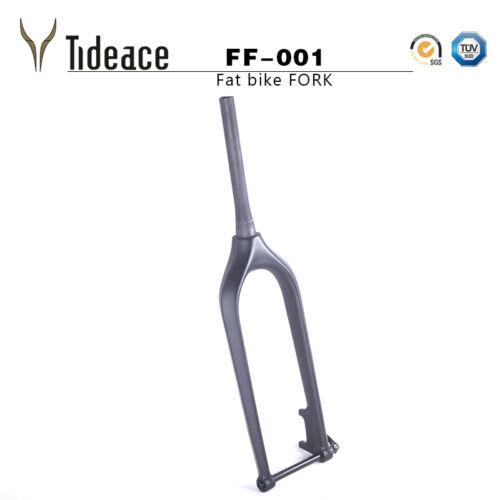 26er Full Carbon Fiber Bike Fork Tapered Bicycle Front Fork Disc Brake Thru Axle