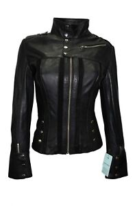 Real stile Design Ladies Nappa Luxury Leather New Black Jacket casual in ZXBqUw