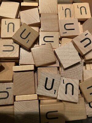 100 Original Scrabble Tiles Letter U