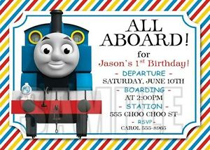 Image Is Loading 10 Thomas The Train Cute Birthday Invitation 1st