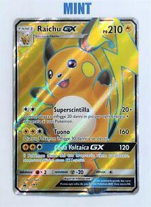 Pokemon-PROMO-SM90-Raichu-GX-ITALIANO-MINT-Black-Star-Pokemon