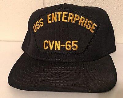 Rare VTG USS Enterprise CVN-65 Snapback Cap Hat Embroidered d3bb0eb844ef