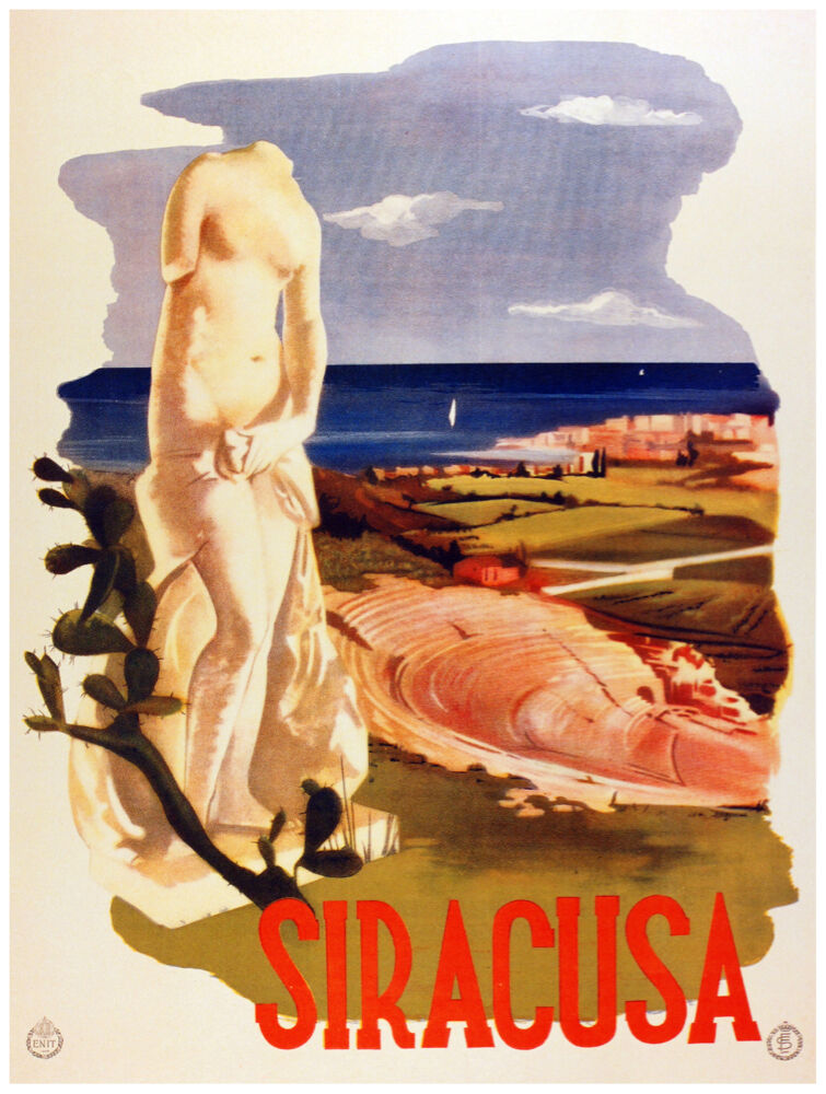 9803.Siracusa.statue.in front of amphitheatre.POSTER cor Home Office art