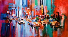 New York, Oil Paint, Palette Knife, Voka Style Replica,Textured Canvas, Large,