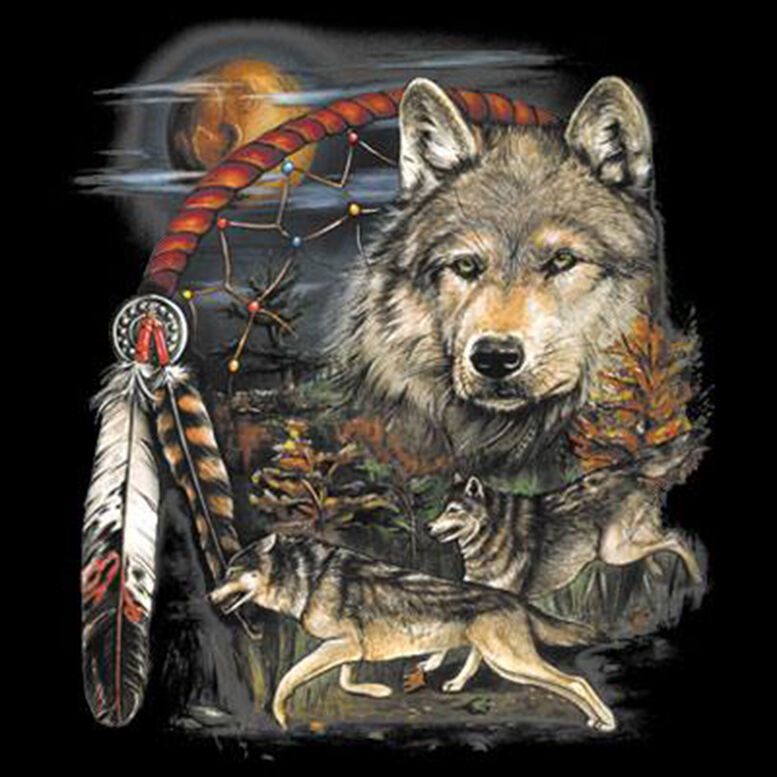 Native American Indian Dream Catcher Wolf Moon Animal Spirit T Shirt Tee Ebay