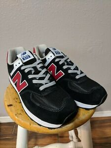 Details about Brand New New Balance 574 Black with NB Scarlet Men's Size 10 Brand New