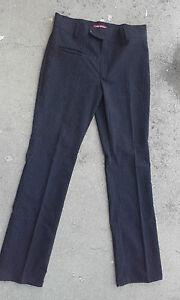 Pantalon-femme-habille-HENRIKS-noir-a-fines-rayures-Taille-40
