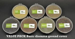 DioDump-DD065-H-Basic-diorama-ground-cover-VALUE-pack-7-cups
