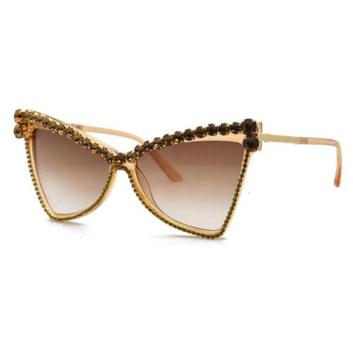 Trending Cat Eye Sunglasses Women Hand-made Rhinestone Vintage Shades Eyewear