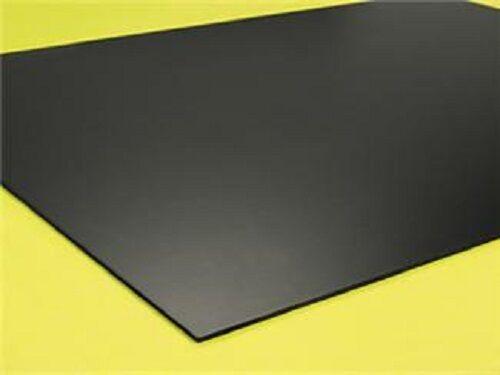 "25 Pack BLACK POLYSTYRENE PLASTIC SHEET 0.060/"" X 12/"" X 12/"" VACUUM FORMING"