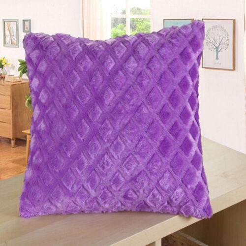 Soft Plush Pillow Case Sofa Waist Throw Cushion Cover Home Decor 13Colors