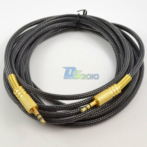 10ft 3m OFC 3.5mm Stereo plug male to male Gold Audio IPOD AUX MP3 Cable cord