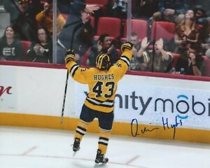 Quinn-Hughes-Signed-8x10-Photo-University-of-Michigan-Wolverines-Autographed-COA