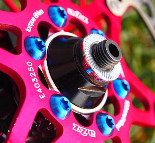 12pcs M5x10mm Titanium T25 Torx Brake Disc Rotor Screws Bolts For MTB Bicycle