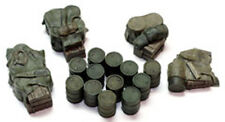1/72 scale 720DA Allied Fuel Drums (18 Pieces) WW2 Military model accessory