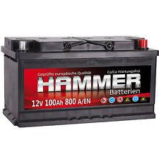 Autobatterie HAMMER 12V 100Ah Starterbatterie WARTUNGSFREI TOP ANGEBOT NEU