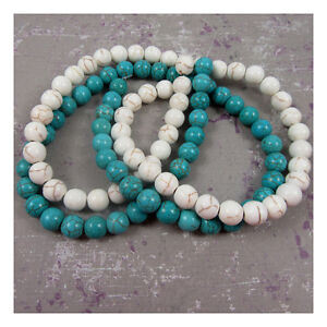 ROUND-CRACKLED-CHALKSTONE-BEADS-2-COLOURS-5-SIZES-BEADING-JEWELLERY-MAKING