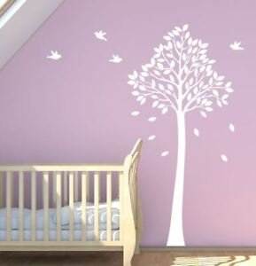 Tall-Tree-Wall-Sticker-With-Birds-Cot-Baby-Nursery-140cm-Removable-Stickers