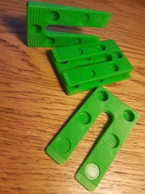 30//PACK Precision Wedge //Packers Green Tough Quality Plastic 45mm x 75mm 1-8 mm