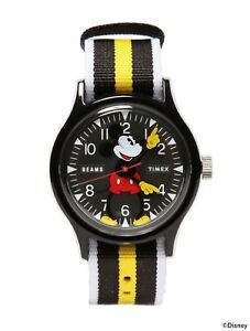 TIMEX-x-BEAMS-Collaboration-Mickey-Mouse-90th-Anniversary-BLACK-Watch-NEW