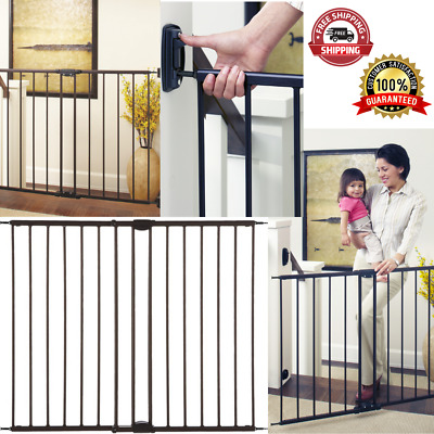 Easy Swing And Lock Baby Or Pets Safety Gate Children Tall Fence Walk Through Ebay