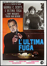 CINEMA-manifesto L'ULTIMA FUGA c. scott, musante, van devere, FLEISCHER