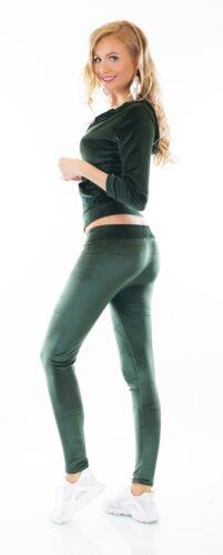 Nicki Jogginganzug Hausanzug Velour Samt Fitness Kapuze Jacke Hose 34-42