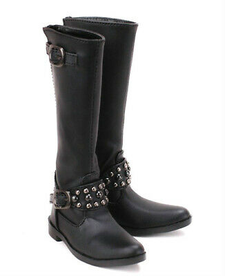 1//3SD Uncle BJD Shoes Pointed-toe Leather Boots Rivets Deco AOD DZ Black//Brown