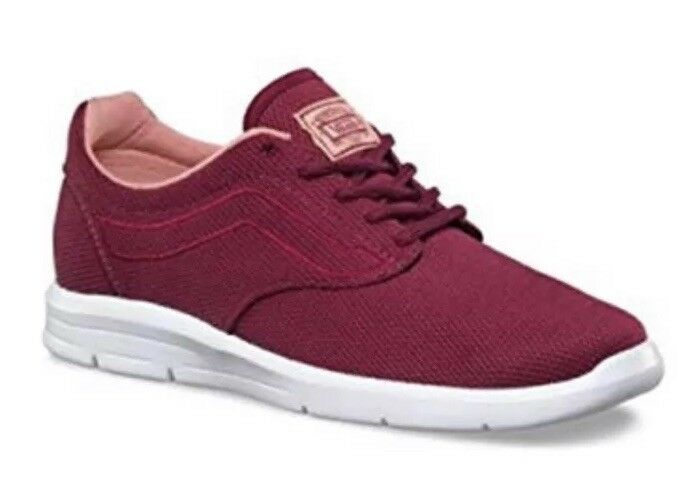 3bda4453b7 New VANS Mens 3.5 Womens 5 ISO 1.5 Beet Red White Athletic shoes Sneakers  Mesh nuvaej5894-Athletic Shoes