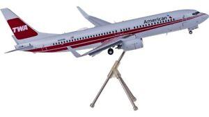 1:200 Geminijets American BOEING 737-800 Passenger Plane Flap Down Diecast Model