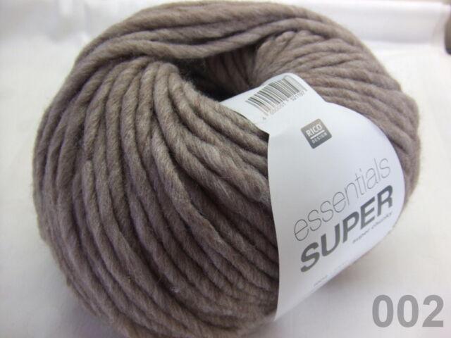 Rico Design lana Essentials super super Chunky 002 beige 100g 100m