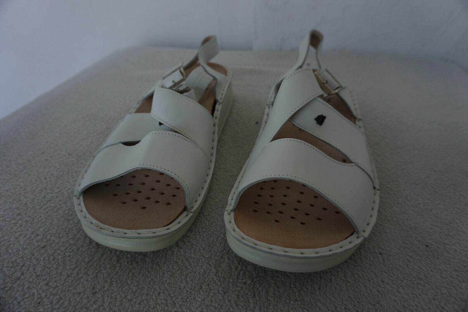 FINN COMFORT Palma Damen Sommer Schuhe Sandale mit Einlagen Gr.42 Weiß Leder NEU