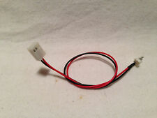 """Cable 12V 3-pin PC Fan Power 10/"""" Extension Female to Male 2 wires Bulk Lot of 5"""