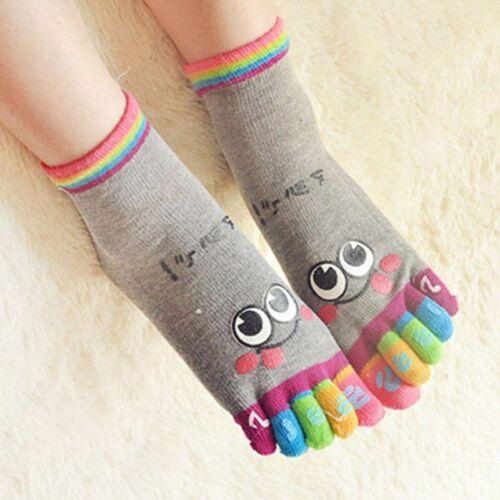 Kids Toe Socks Child Cartoon Ankle Socks Girls Boys Winter Warm Hosiery Comfort