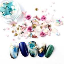 Nail Art 3D DIY Rose Jewelry Mix Gems Decoration Glitter Rhinestones Manicure