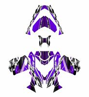 Ski Doo Rev Xs 2013 2014 2015 Graphics Sled Custom Wrap Deco Kit 2300 Purple