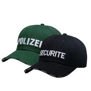 0eca67dd0e8879 Image is loading POLIZEI-SECURITE-Embroidery-Hat-Baseball-Cap-Vetements -Adjustable-