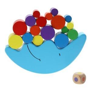 Baby-Frueh-Lernen-Spielzeug-Mond-Balancing-Rahmen-Montessori-Holz-Bloecke-Au