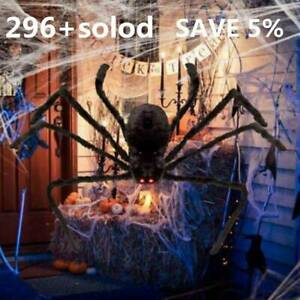1x-125cm-6-6FT-Plush-Giant-Spider-Decoration-Halloween-Haunted-House-Garden-Prop