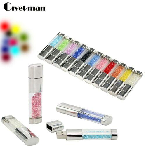 Civetman® Mini Pen Drive Natural Diamond Rectangle USB Flash Drive