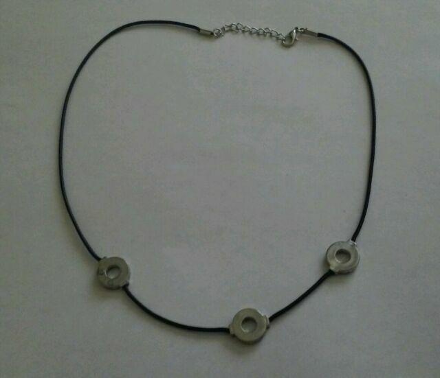 Itachi Cosplay 3 Loops Necklace Naruto Akatsuki Uchiha 3 Rings Pendant Gift