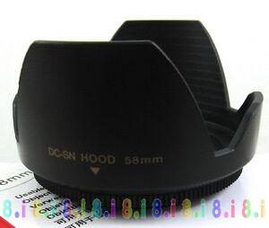 New-58MM-LENS-HOOD-For-Canon-650D-600D-550D-700D-18-55-Screw-HOOD